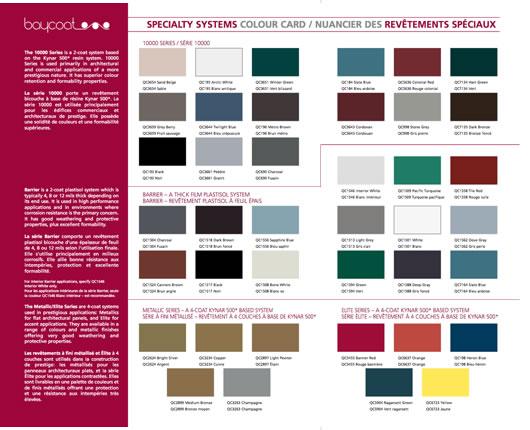 Baycoat专业系统颜色卡
